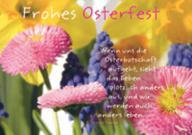 Briefkarte Ostern: Frohes Osterfest.